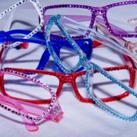 Brille mit Glitzer, aber ohne Gläser