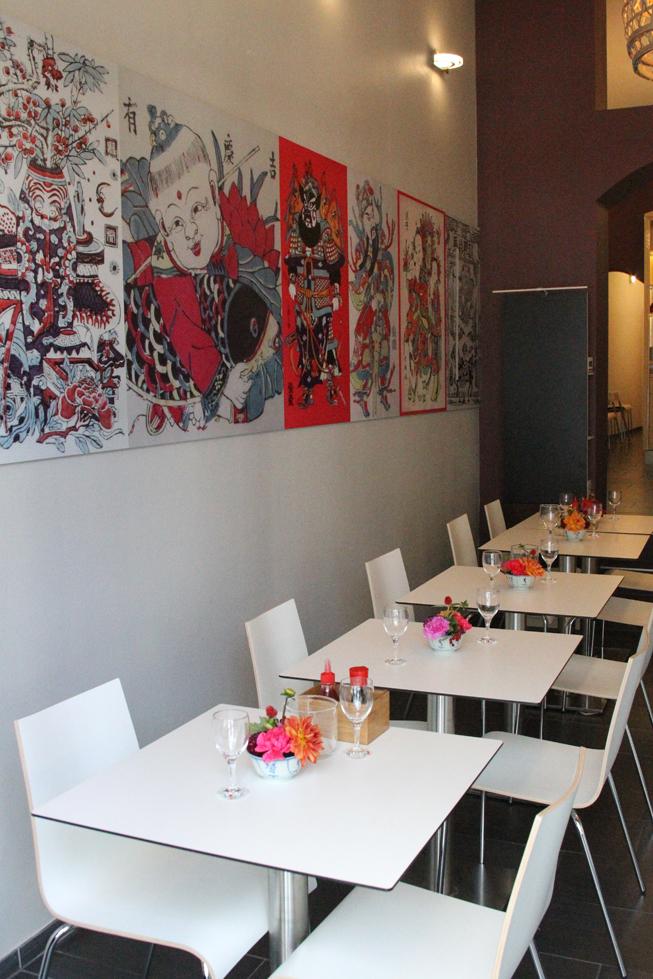 Das Interieur des Petit Lam Freres ist hübsch und modern. Foto: Lam Freres