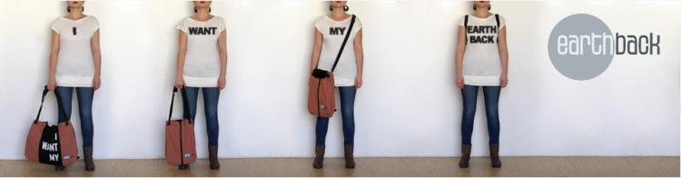 Der Earthbag ist nachhaltig hergestellt, und sehr funktionell: Mal Messengerbag, Rucksack oder Shopper!