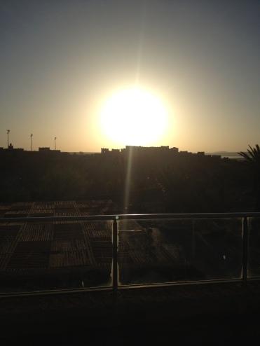 Sonnenaufgang über Ouarzazate