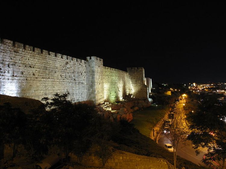 CC BY-SA 3.0 File:Jerusalem, walls of Old town (010).JPG Uploaded by Juandev