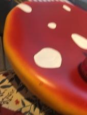 Ein Pilztisch im verrückten Eismacher