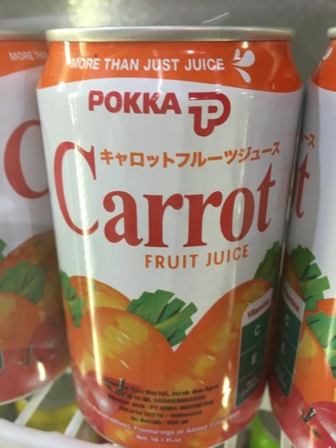 Karottensaft von Pokka aus Singapur
