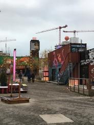 Das Container collective auf dem Kunstpark Ost Gelände