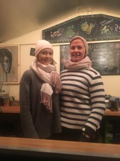 Zwei Damen vom Burritogrill - sehr lecker! (also die Burritos)