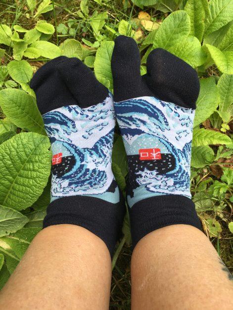 Japanische Socken für Zehensandalen