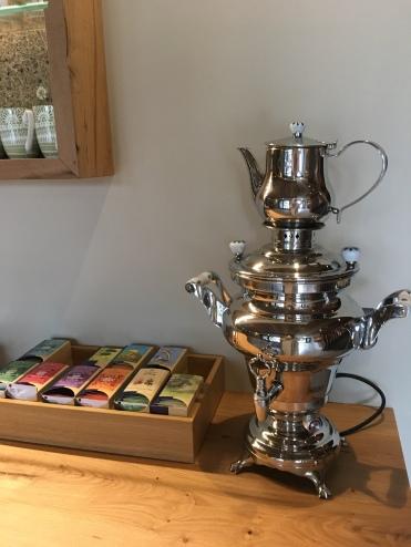 Teeauswahl im Wellnessstadl vom Streklhof