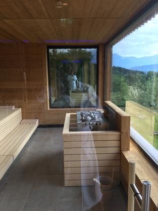 Panoramascheiben in der Sauna
