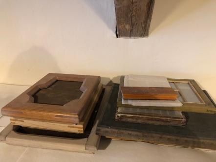 Rahmen für handgeschöpftes Papier