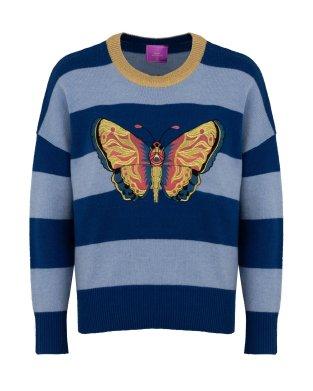 Wer mag keine Schmetterlinge? Aufwändig bestickter Pullover