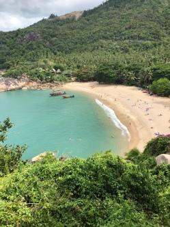 Der Strand von oben